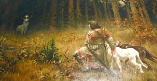 Heiliger Hubertus im Wald