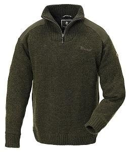 Pinewood Strickpullover Hurricane, Darkgreen Melange