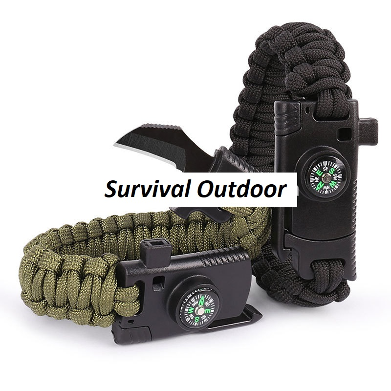 Paracord Survival Armband mit Messer